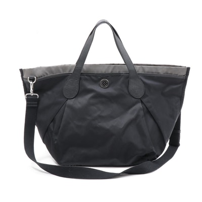 Marc by Marc Jacobs Black and Gray Nylon and Leather Tote Bag
