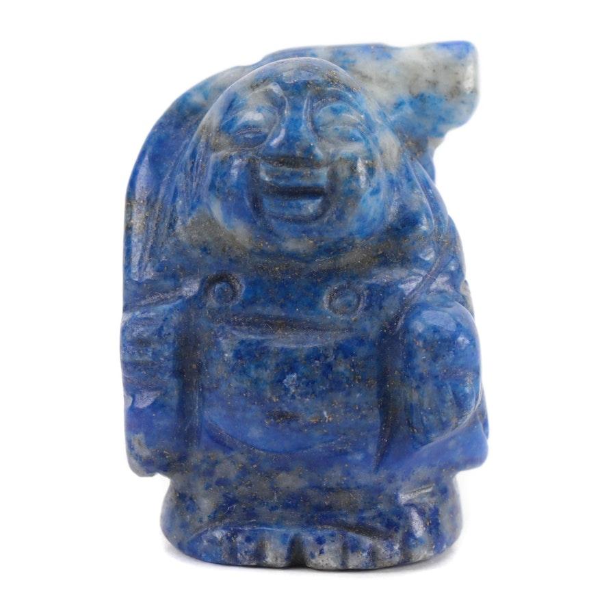 Hand-Carved Lapis Lazuli Buddha Figurine