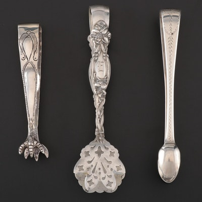 George IV Sterling Sugar Tongs with Heraldry Engraving and more