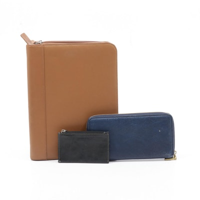 Levenger Coin Purse and Planner Cover with J. Crew Leather Wallet