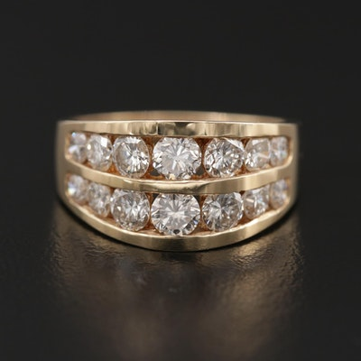 14K Yellow Gold 1.64 CTW Diamond Ring