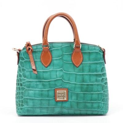 Dooney & Bourke Crocodile Embossed Leather Top Handle Bag