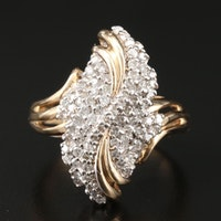 14K Yellow Gold 1.17 CTW Diamond Ring