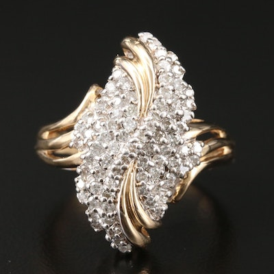 14K Yellow Gold 1.17 CTW Diamond Ring