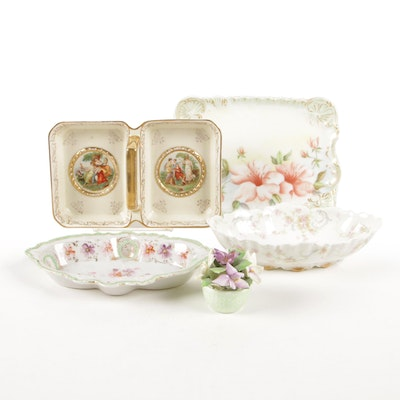 Haviland, Royal Adderley and Other Porcelain Candy and Bonbon Dishes