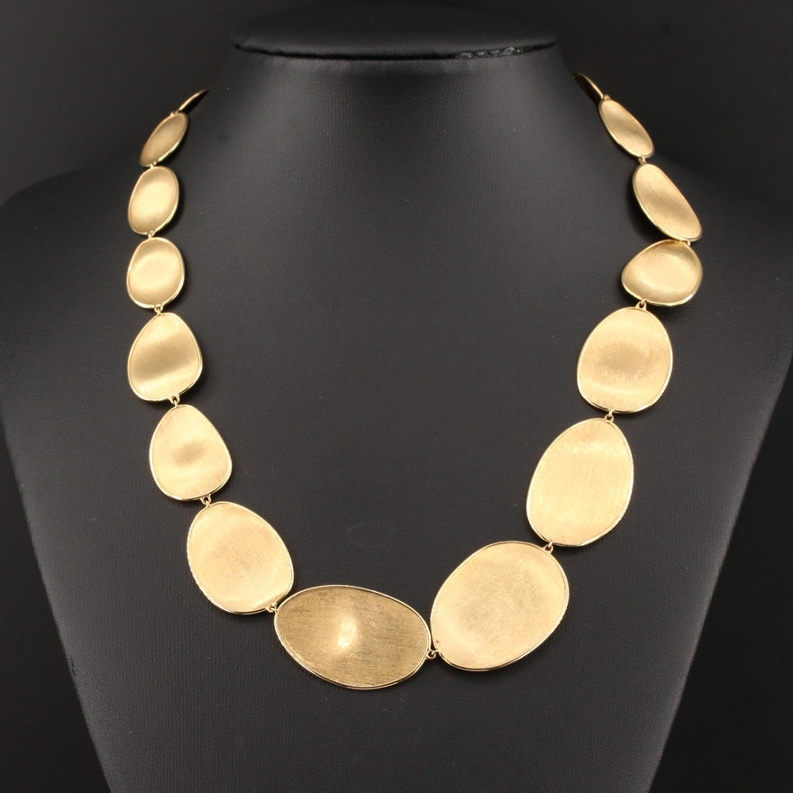 """Marco Bicego """"Lunaria"""" 18K Yellow Gold Necklace"""