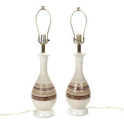Pair of Mid-Century Modern Ceramic Table Lamps
