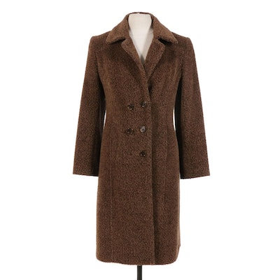 Linda Richards Luxury Brown Wool and Alpaca Blend Coat