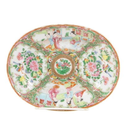 "Chinese ""Rose Medallion"" Teapot Stand"