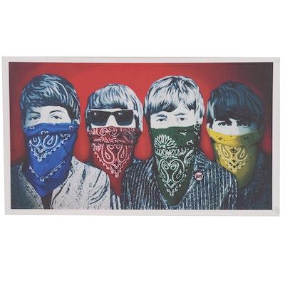 """Pop Art Giclée after Mr. Brainwash """"Beatles Bandidos"""""""