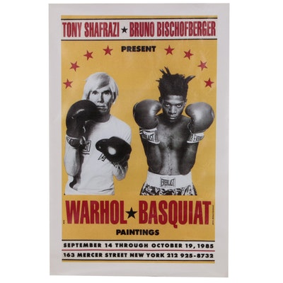Pop Art Giclée after Andy Warhol and Jean-Michel Basquiat Exhibition Poster