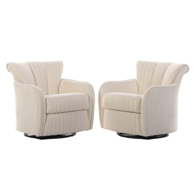 Contemporary Upholstered Swivel Rocking Arm Chairs for Sofa Express
