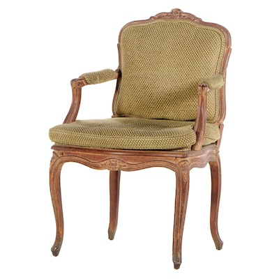 Louis XV Style Beech Fauteuil, Early to Mid 20th Century