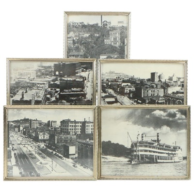 Photographs of Cincinnati's Canal and Parkway, Mount Adams Incline, and More