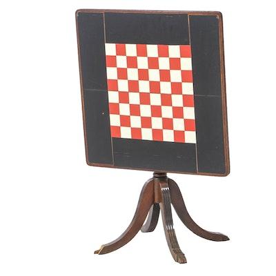 Ferguson Duncan Phyfe Style Mahogany Tilt-Top Game Table, Mid 20th Century
