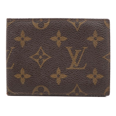 Louis Vuitton Mongrammed Canvas Card Wallet
