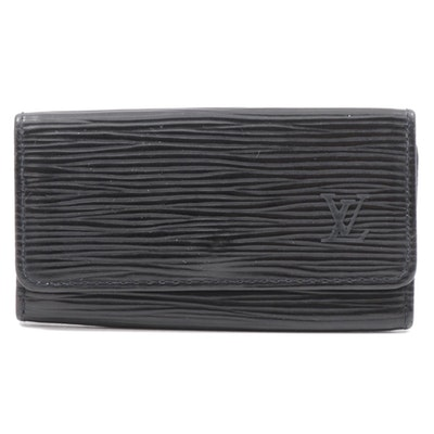 Louis Vuitton Black Epi Leather Key Holder