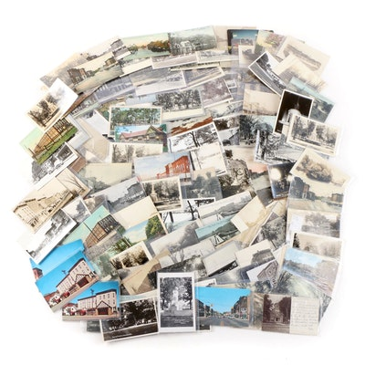 Michigan Themed Tourism and Landmark Postcards