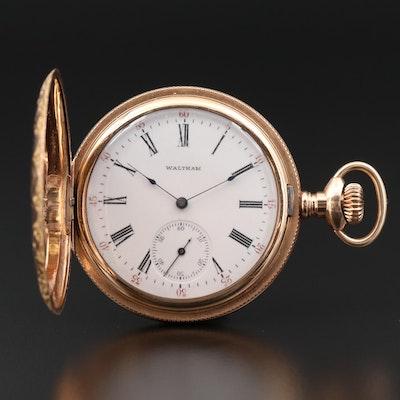 Antique Waltham Gold Filled Hunting Case Pocket Watch, 1901
