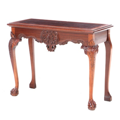 Carved Mahogany Console Table, Late 20th Century
