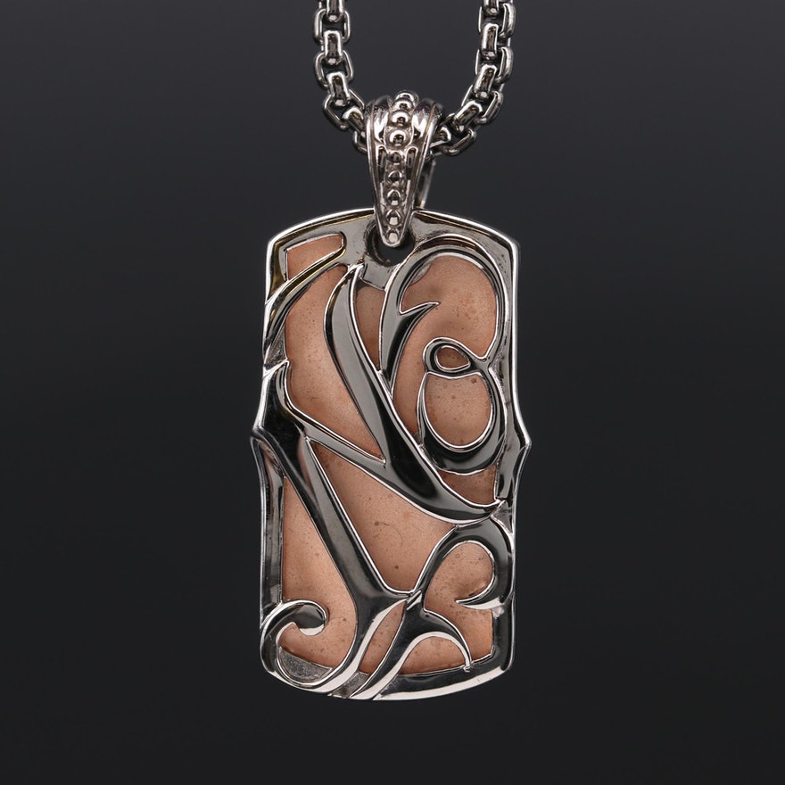 """Stephen Webster """"No Regrets"""" Sterling Silver Pendant with Chain"""