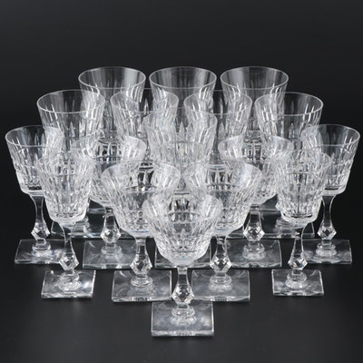 "Tiffin-Franciscan ""Waterford"" Water Goblets, Wine Glasses, and Sherry Glasses"