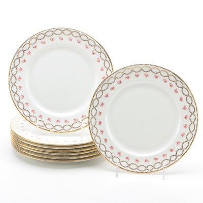 Star China Co. Bone China Salad Plates for Eight, circa 1912