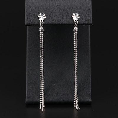 18K White Gold Dangle Earrings