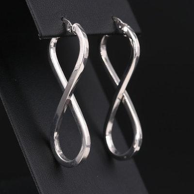 Sterling Silver Figure Eight Hoop Earrings