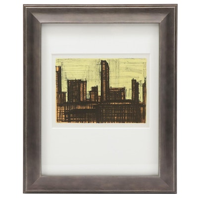"Color Lithograph after Bernard Buffet ""New York #10,"" 1967"