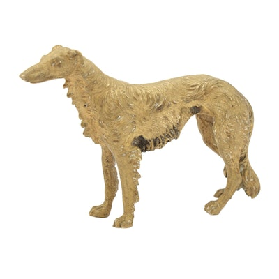 Austrian Cold-Painted Borzoi Figurine