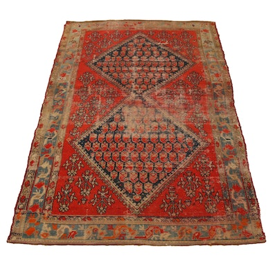"4'1"" x 6'6"" Hand-Knotted Indo-Turkish Wool Rug"