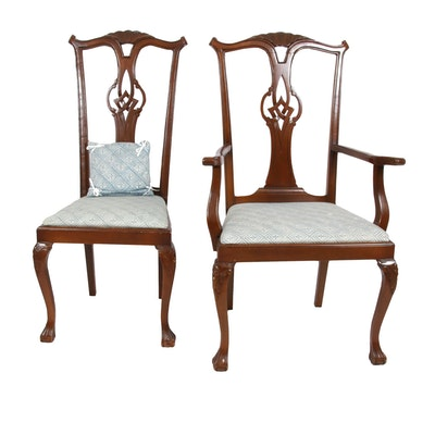 Chippendale Style Carved Wood Chairs