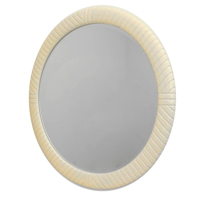Century Carved Wall Mirror in Cream Tones