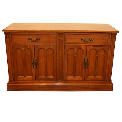 Davis Solid Wood Storage Cabinet, Late 20th Century