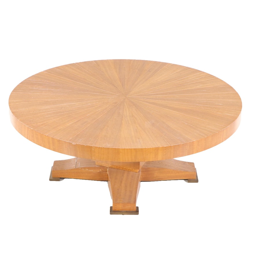 Hand-Crafted Joshua Friedman & Co. Swivel Coffee Table, Mid to Late 20th Century