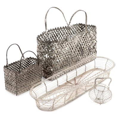Woven Metal and Wire Baskets
