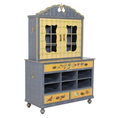 Tracy Porter Stonehouse Farm Goods Hand-Painted Hutch, 20th Century