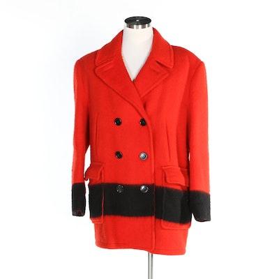 Unisex Hudson Bay Company Mackinaw Double-Breasted Blanket Coat, Vintage