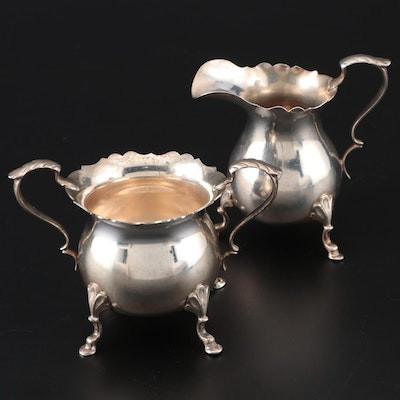 Baldwin & Miller Sterling Silver Cream and Sugar Set, 20th Century