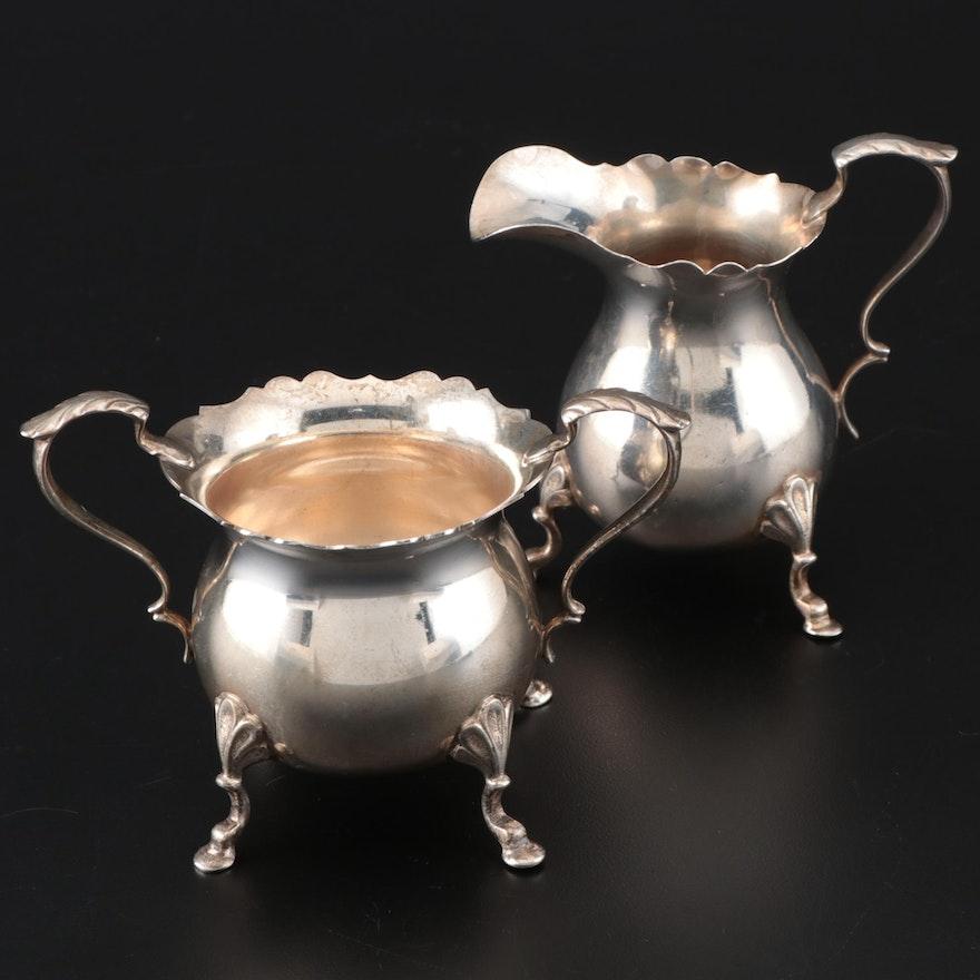Baldwin & Miller Sterling Silver Cream and Sugar Set, 20th Century