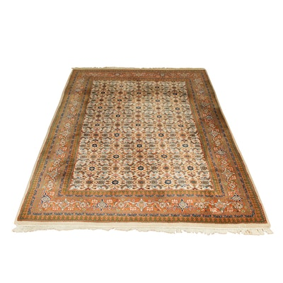 "5'8"" x 9'2"" Hand-Knotted Wool Rug"