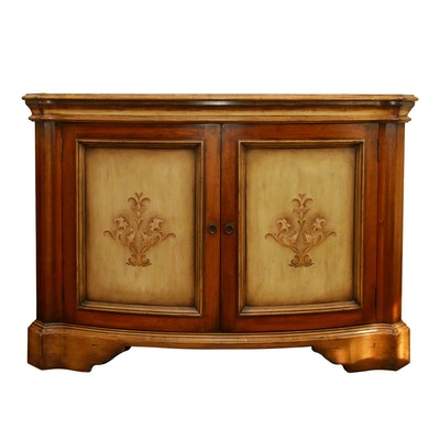 South Cone French Provincial Style Stenciled Sideboard