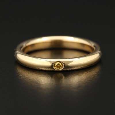 Elsa Peretti for Tiffany & Co. 18K Yellow Gold Diamond Band
