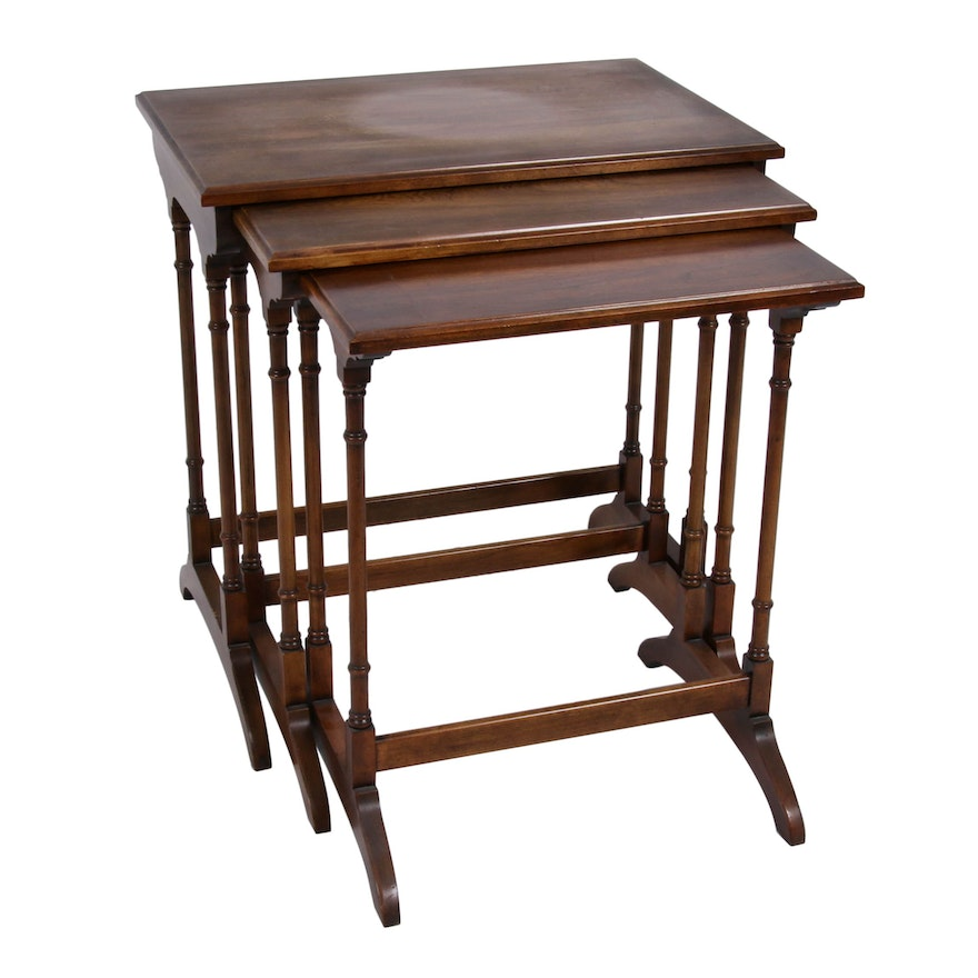 Three Statton Furniture Regency Style Graduated Nesting Side Tables