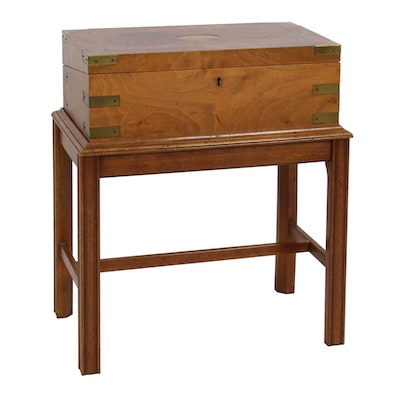 Southampton Burled Walnut Finish Cellarette Side Table