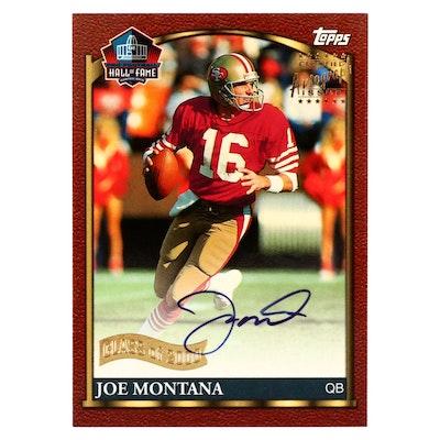 2000 Topps Hall of Fame Class Joe Montana Autographed Football Card