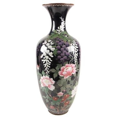 Japanese Cloisonné Floor Vase, Early 20th Century