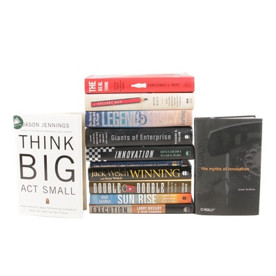 """Signed First Edition """"Myths of Innovation"""" with Other Business Enterprise Books"""