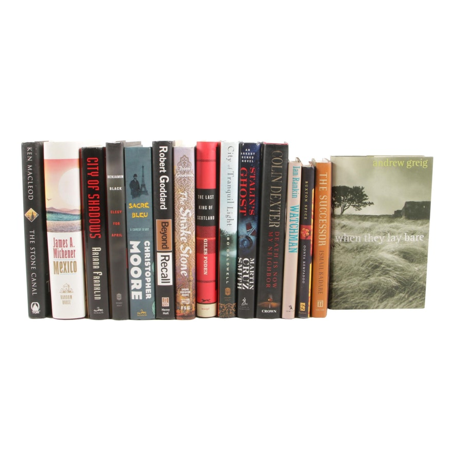 """Contemporary Fiction with Signed First Edition """"When They Lay Bare"""" with Others"""